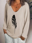Women Casual Long Sleeve V Neck Shirts & Tops